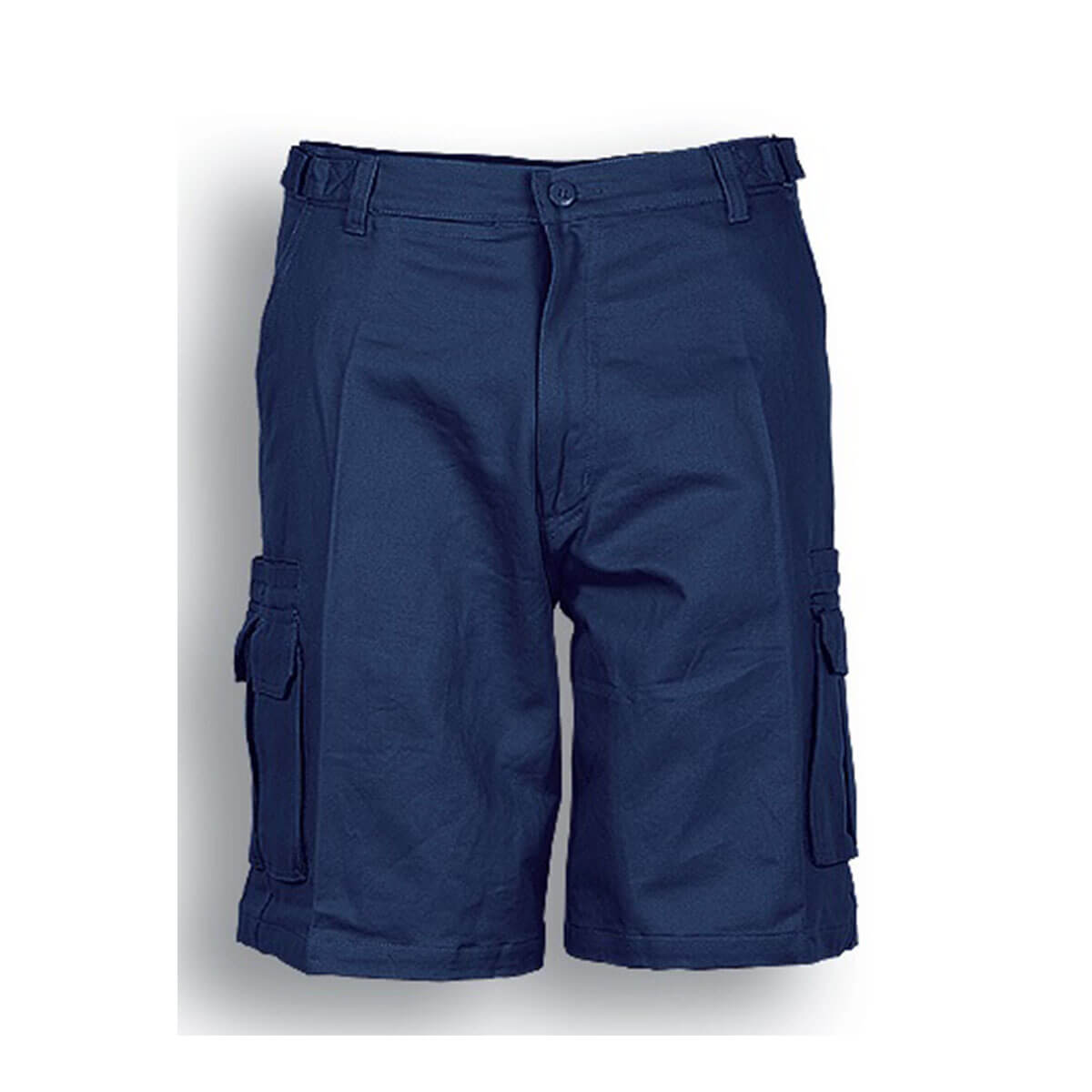COTTON DRILL UTILITY SHORTS-Navy