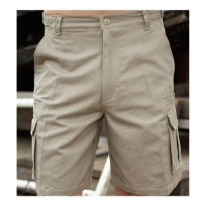 COTTON DRILL UTILITY SHORTS - Bottle