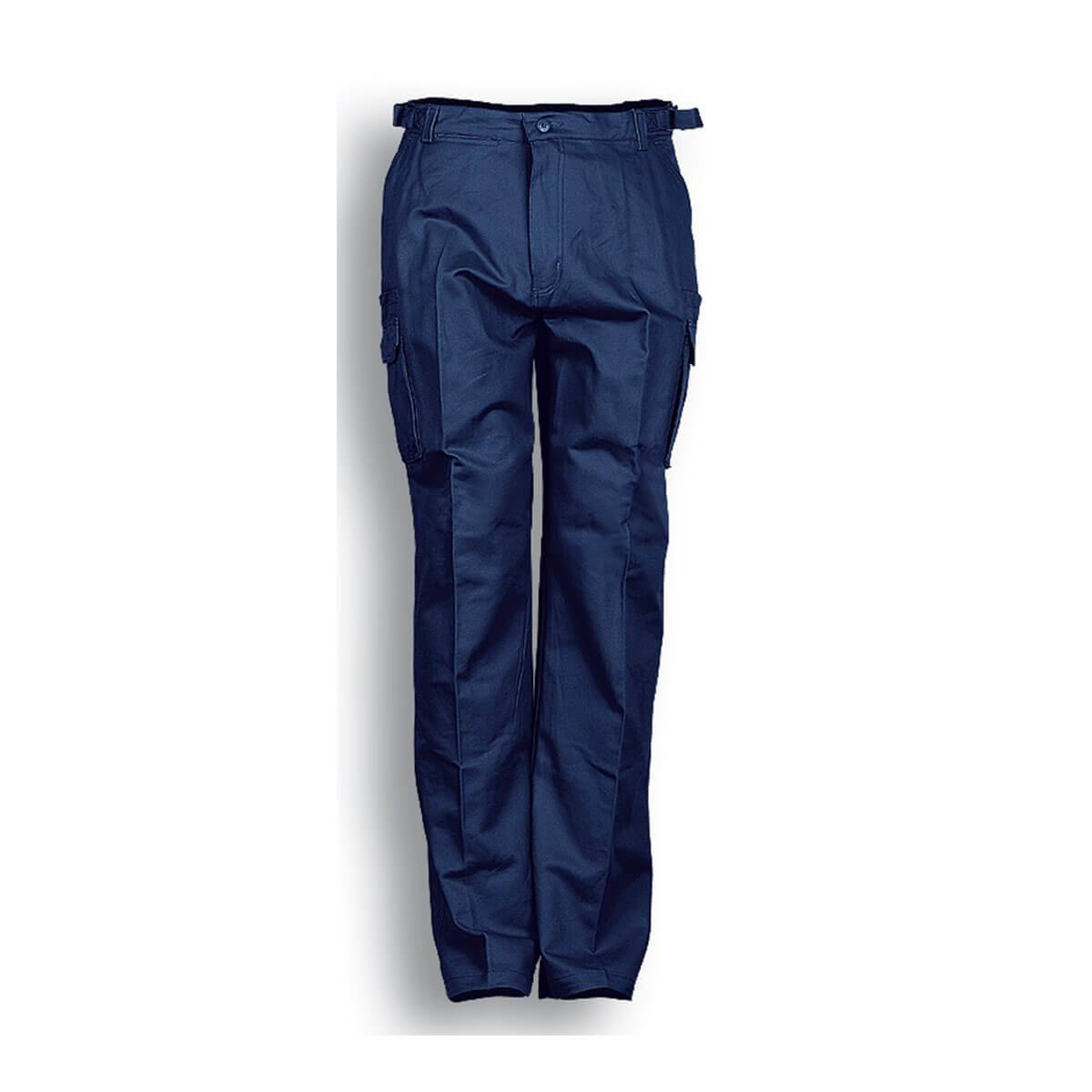 COTTON DRILL CAGO PANTS-Navy