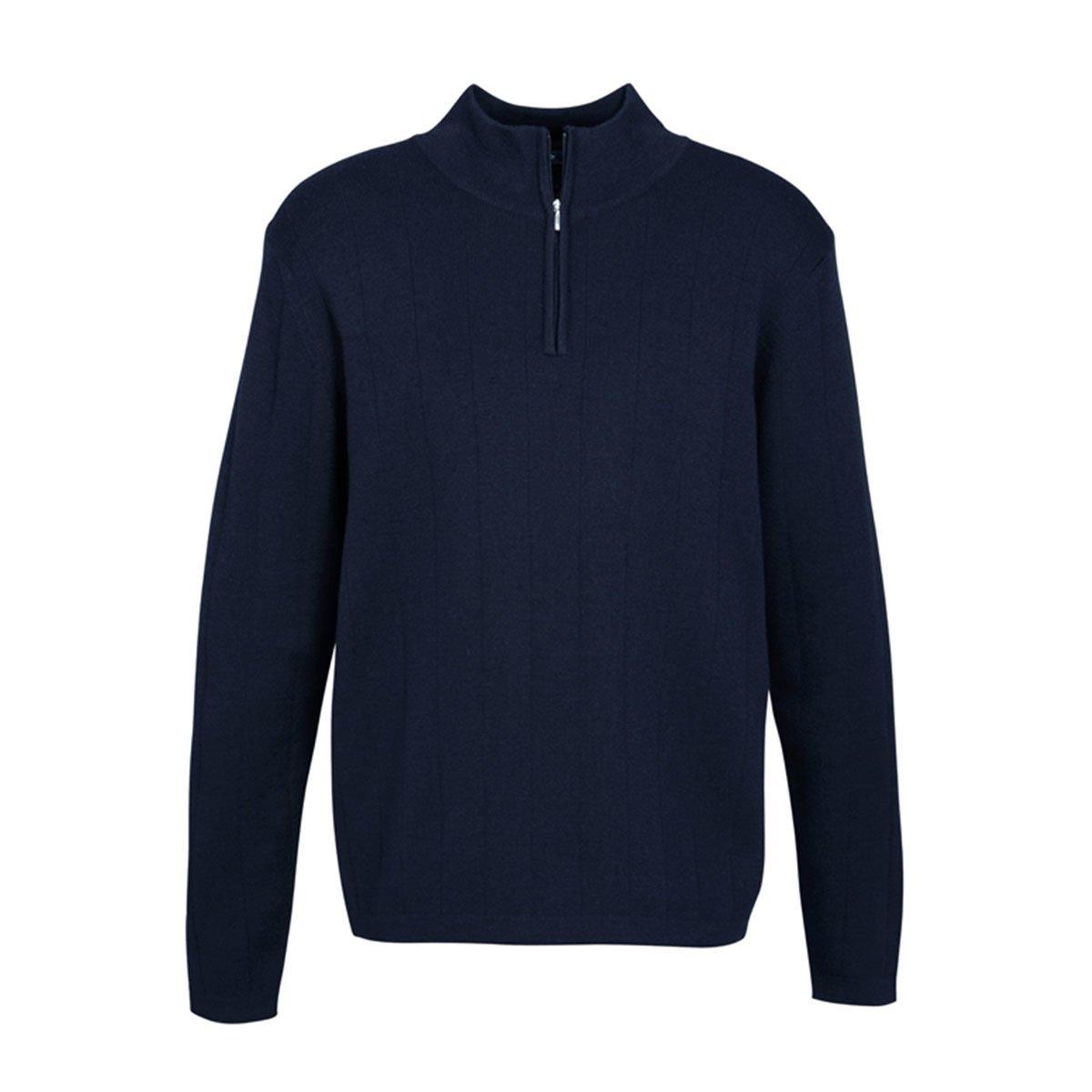 Mens 80/20 Wool-Rich Pullover-Navy