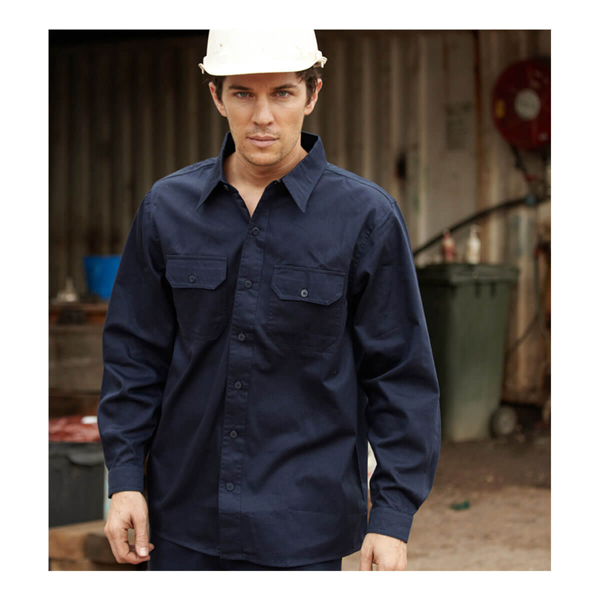 COTTON DRILL WORK SHIRT L/S