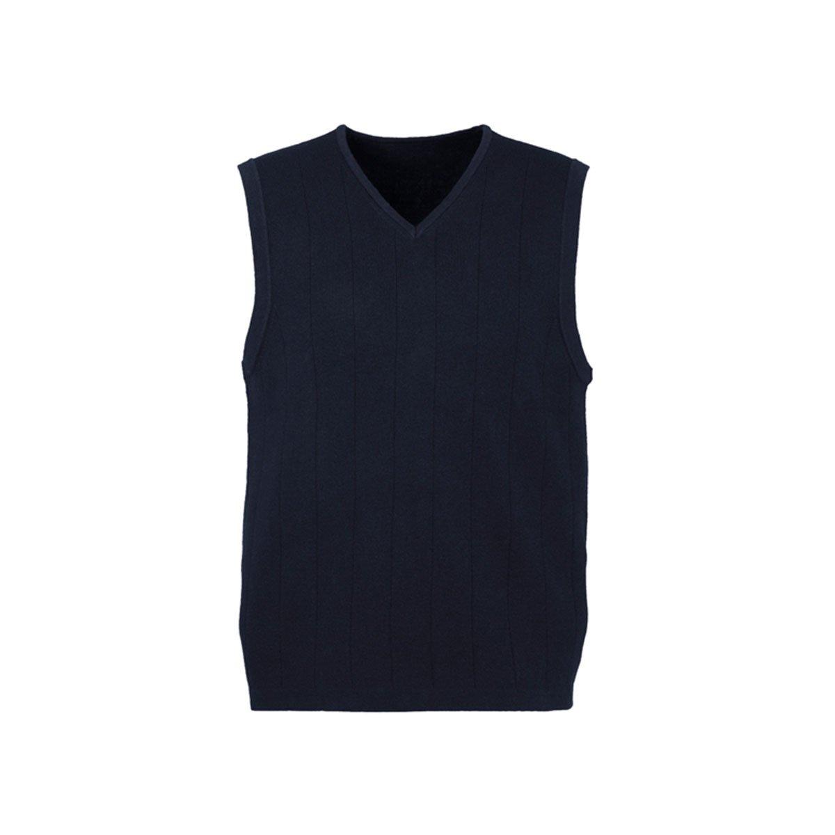 Mens 80/20 Wool-Rich Vest-Navy