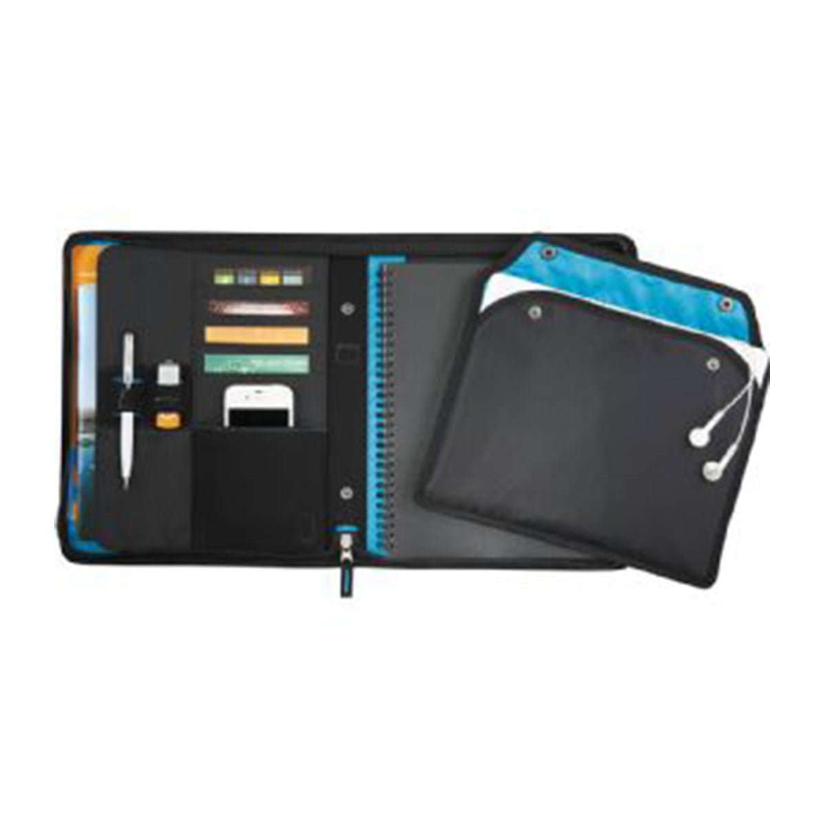 Zoom® 2-In-1 Tech Sleeve JournalBook-Black