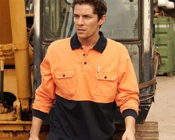 Man wearing embroidered Hi Vis workwear
