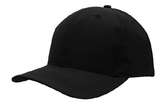 Poly Twill Cap-Black