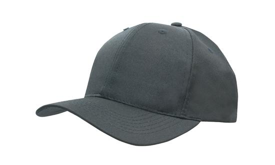 Poly Twill Cap-Charcoal
