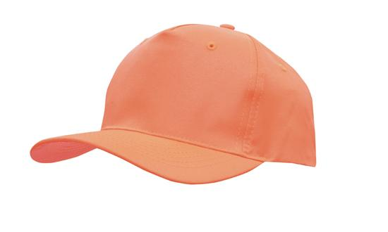 Poly Twill Cap-Fluro Orange