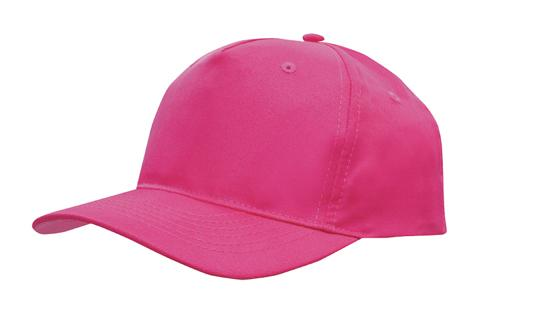 Poly Twill Cap-Hot Pink
