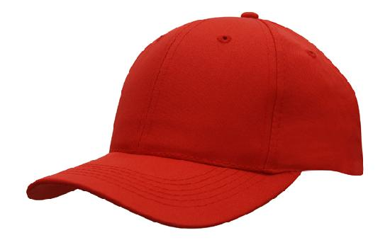 Poly Twill Cap-Red