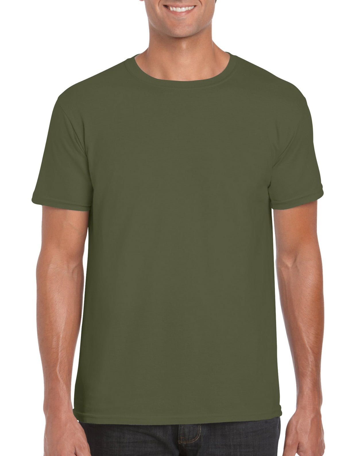 Softstyle Unisex Tee-Military Green