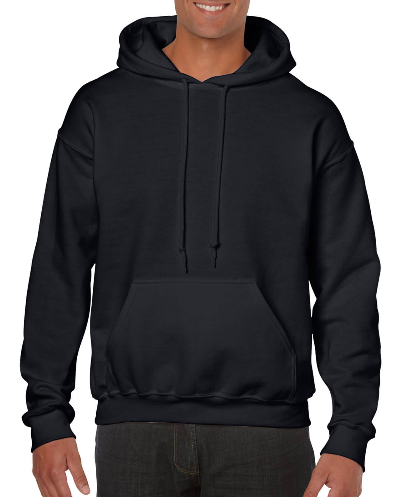 ADULT 50/50 HOODED SWEAT-Black