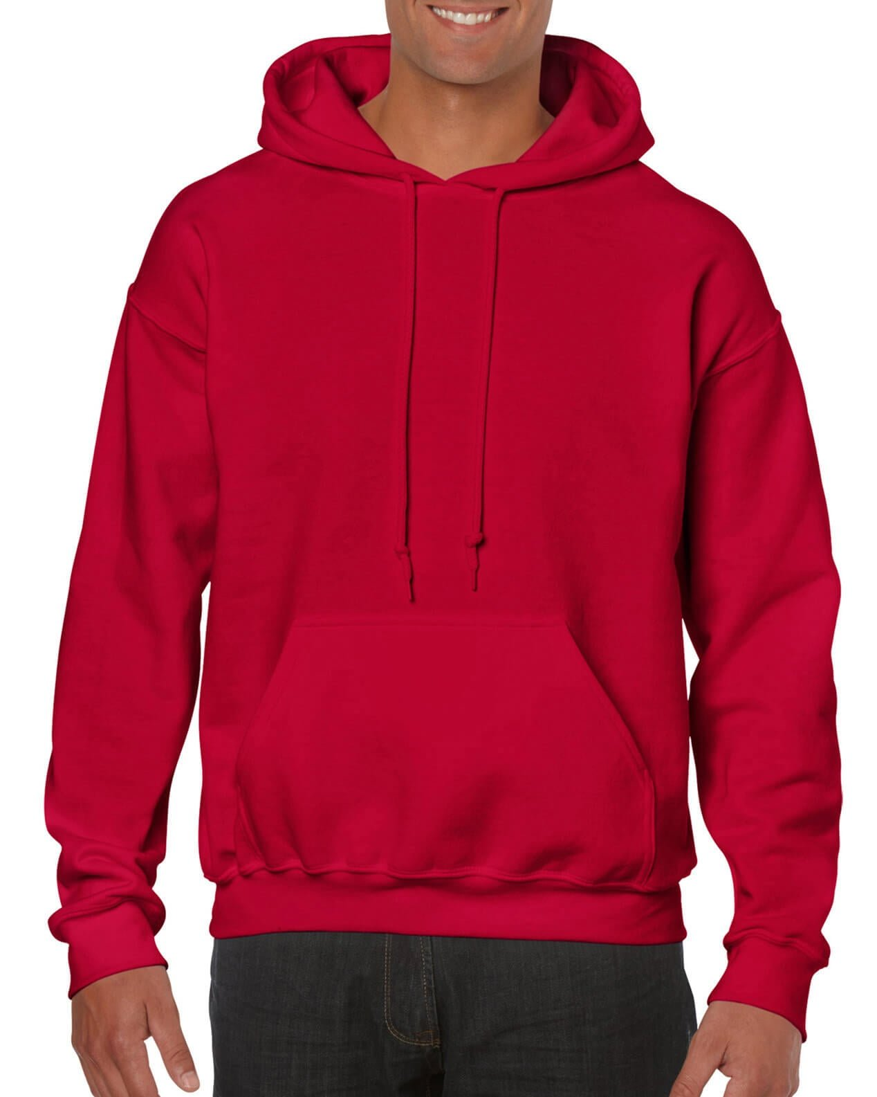 ADULT 50/50 HOODED SWEAT-Cherry