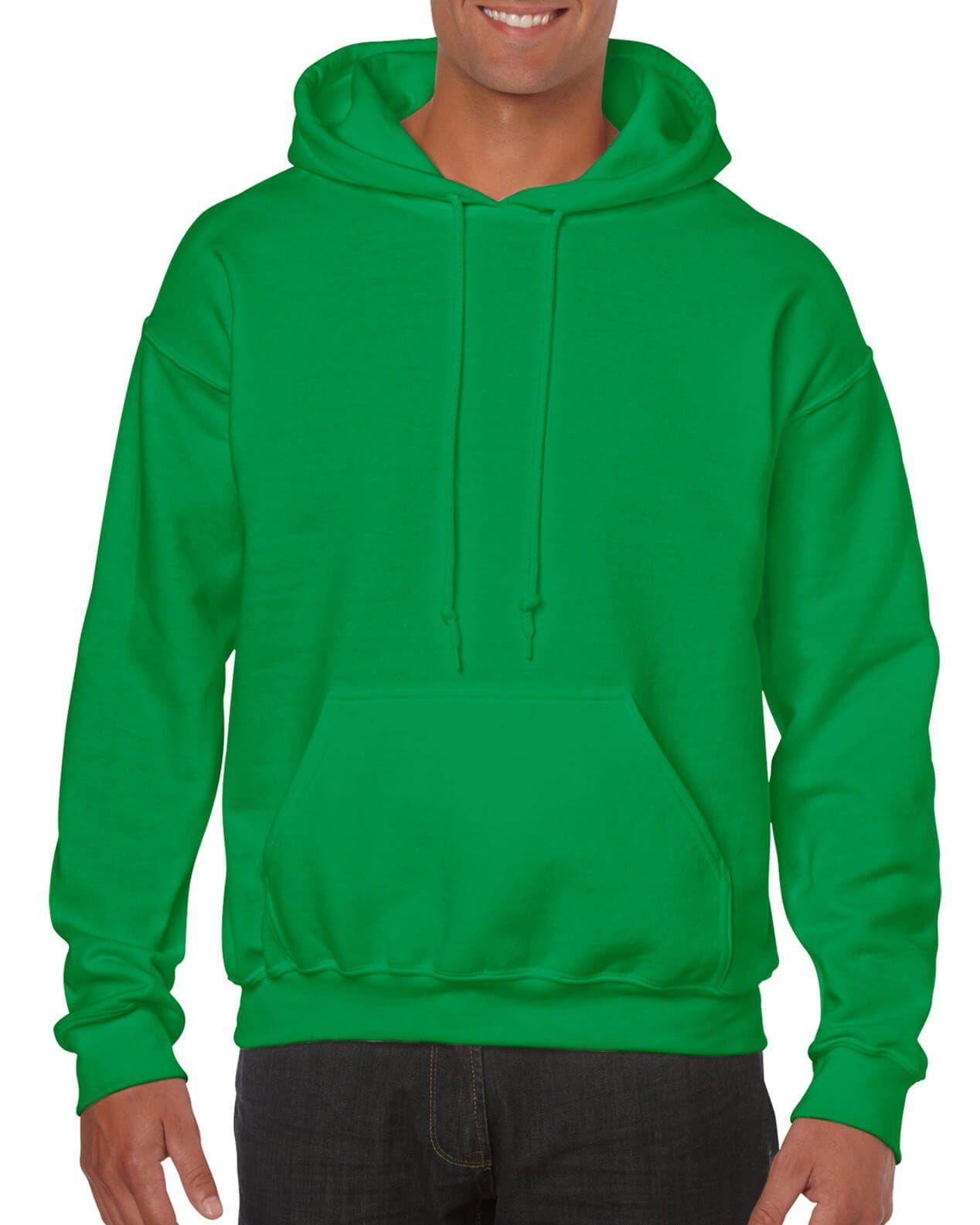 ADULT 50/50 HOODED SWEAT-Irish Green