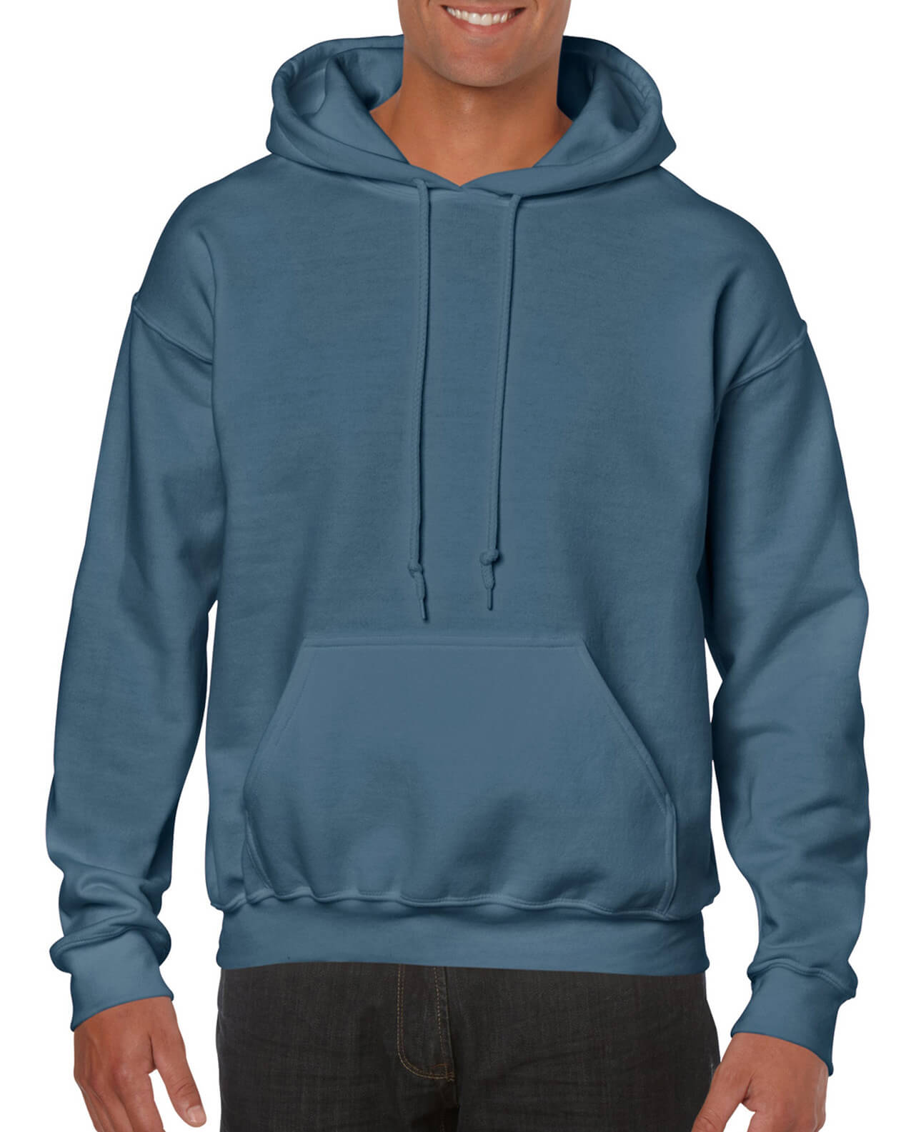 ADULT 50/50 HOODED SWEAT-Indigo Blue