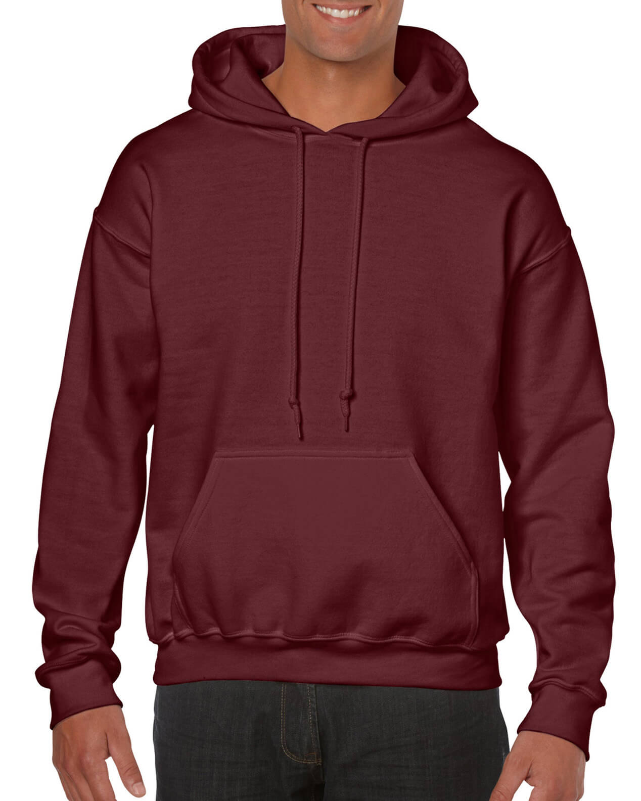 ADULT 50/50 HOODED SWEAT-Maroon