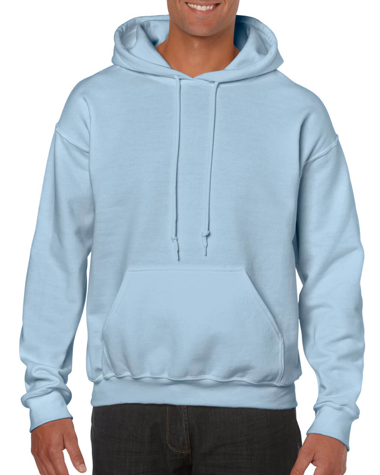 ADULT 50/50 HOODED SWEAT-Lt Blue