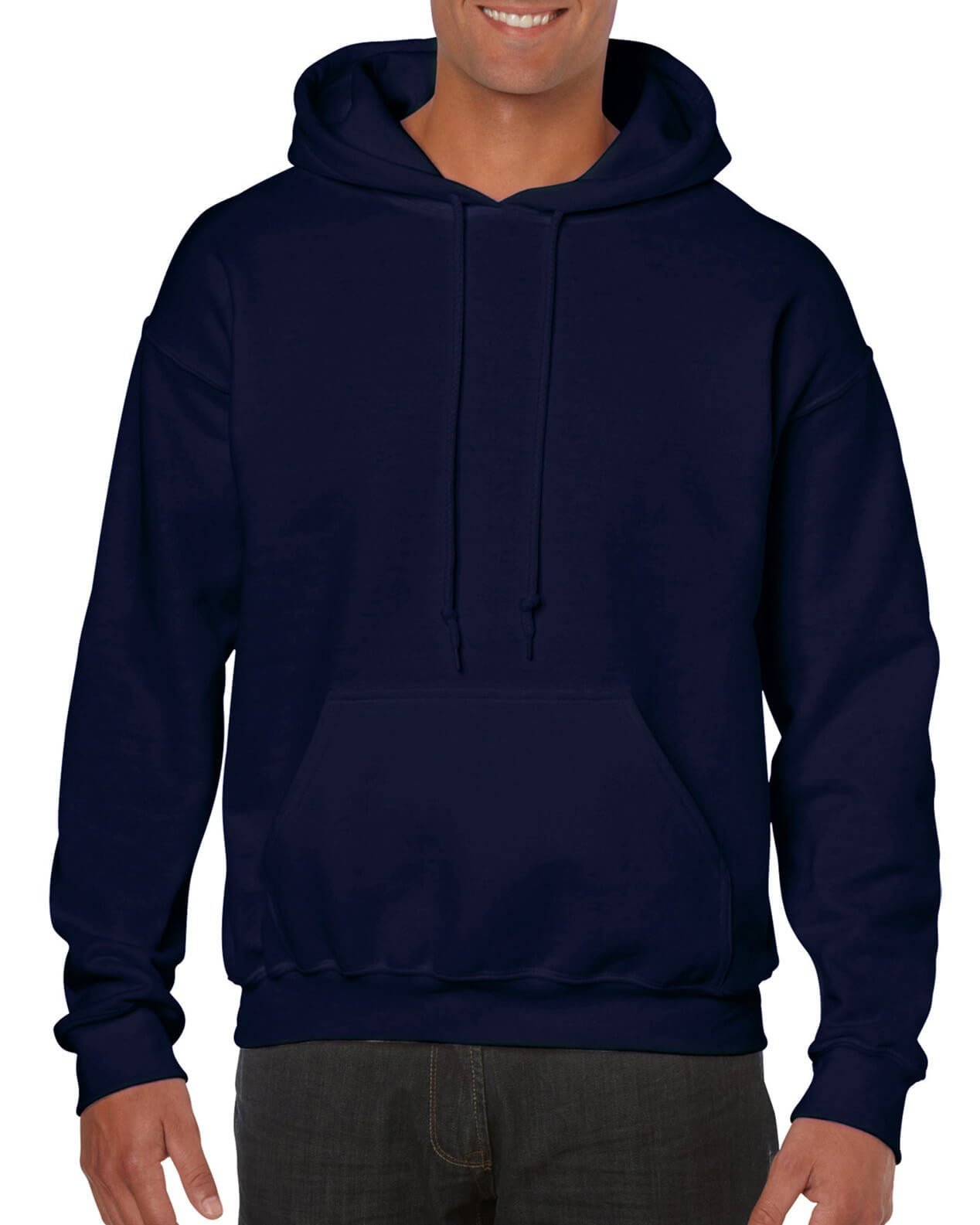ADULT 50/50 HOODED SWEAT-Navy