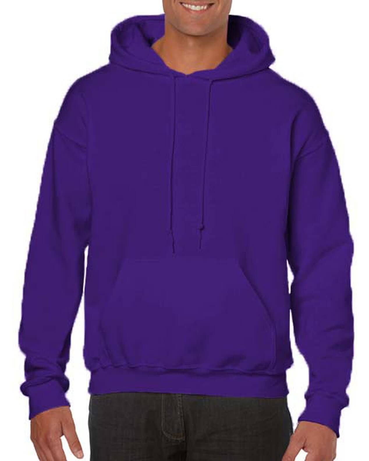 ADULT 50/50 HOODED SWEAT-Purple