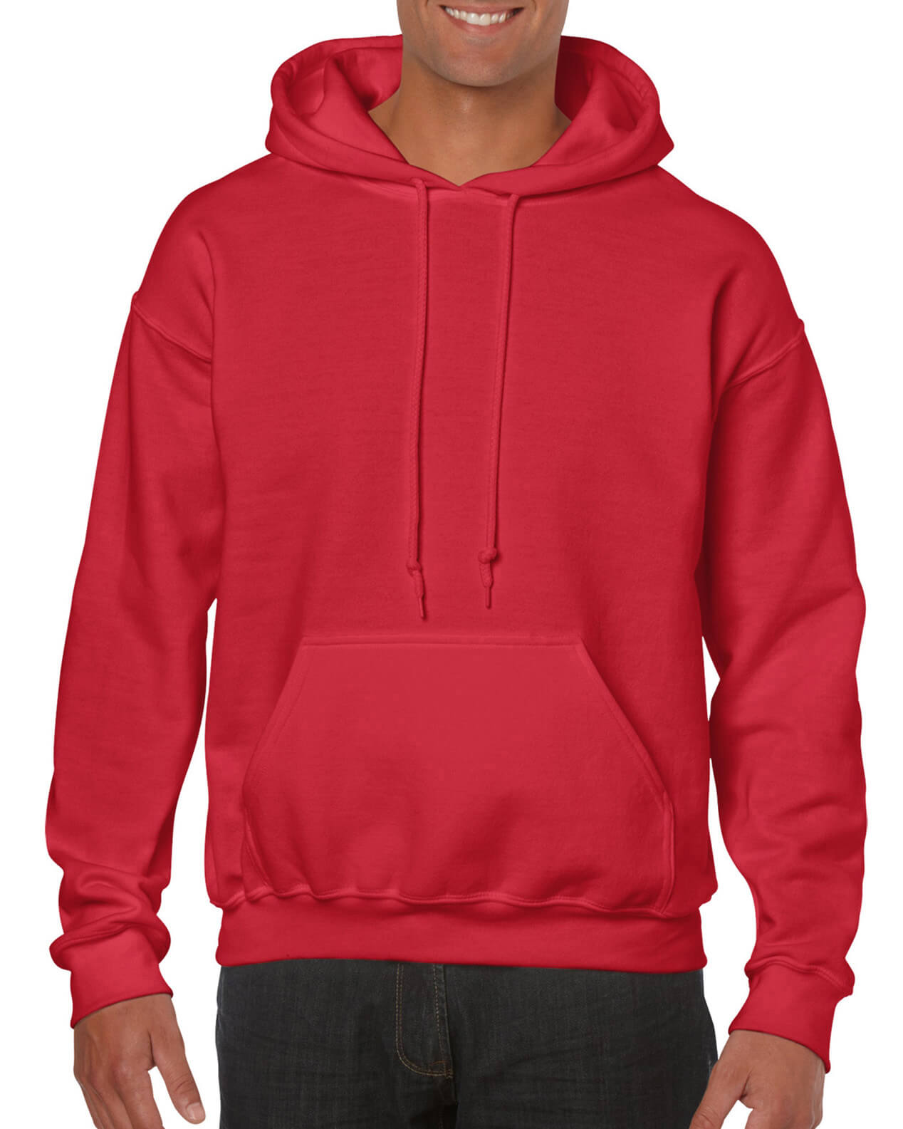 ADULT 50/50 HOODED SWEAT-Red