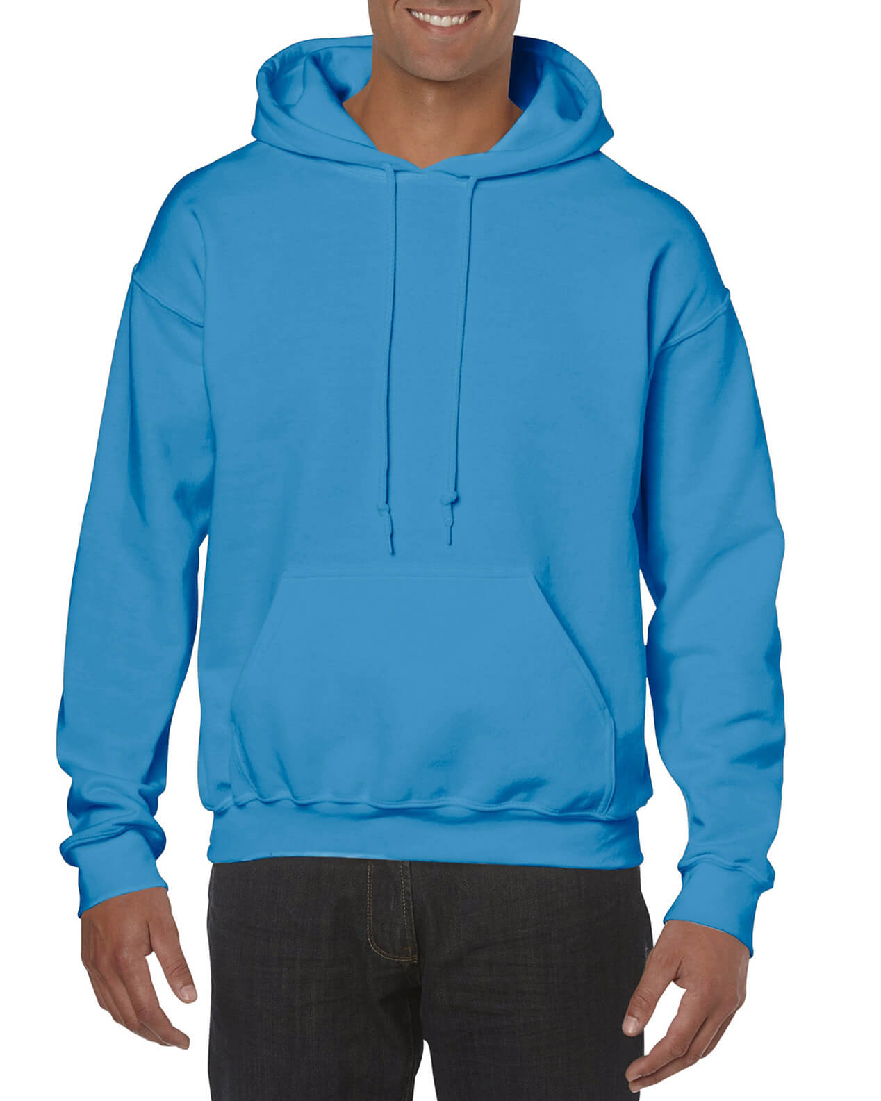 ADULT 50/50 HOODED SWEAT-Sapphire
