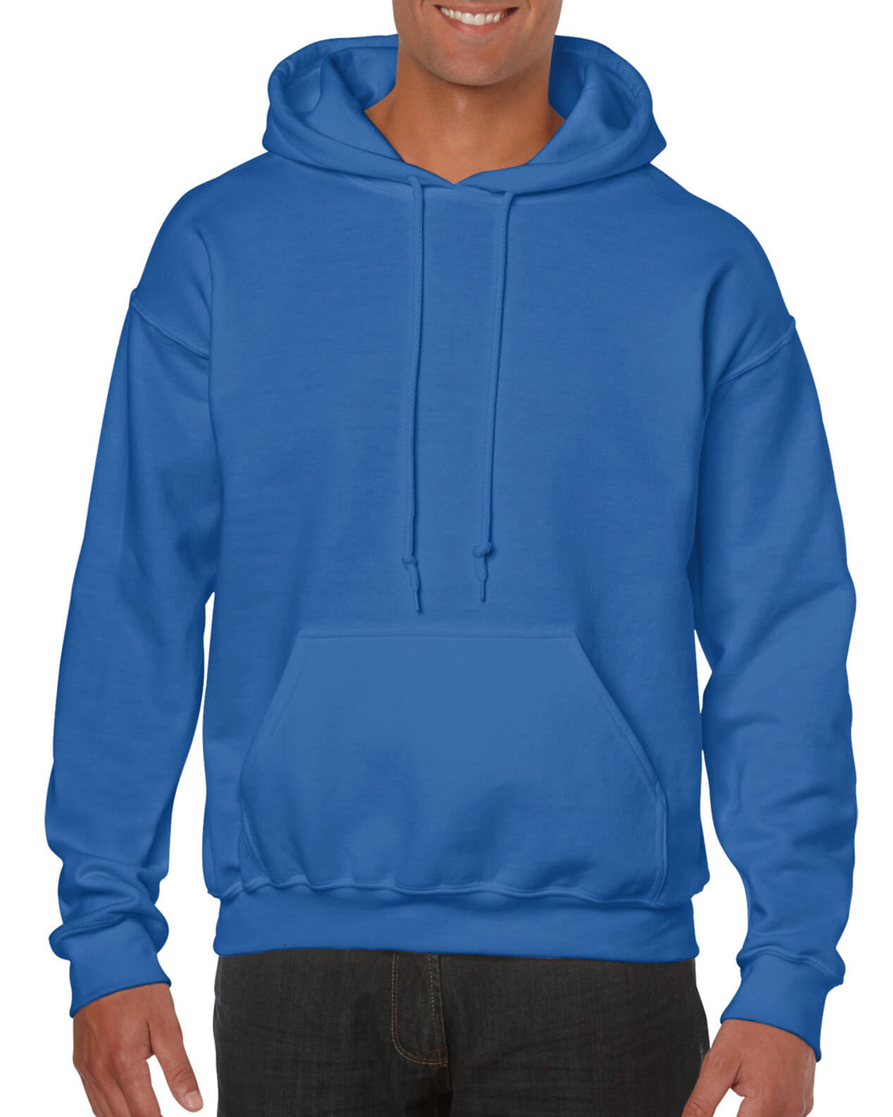 ADULT 50/50 HOODED SWEAT-Royal