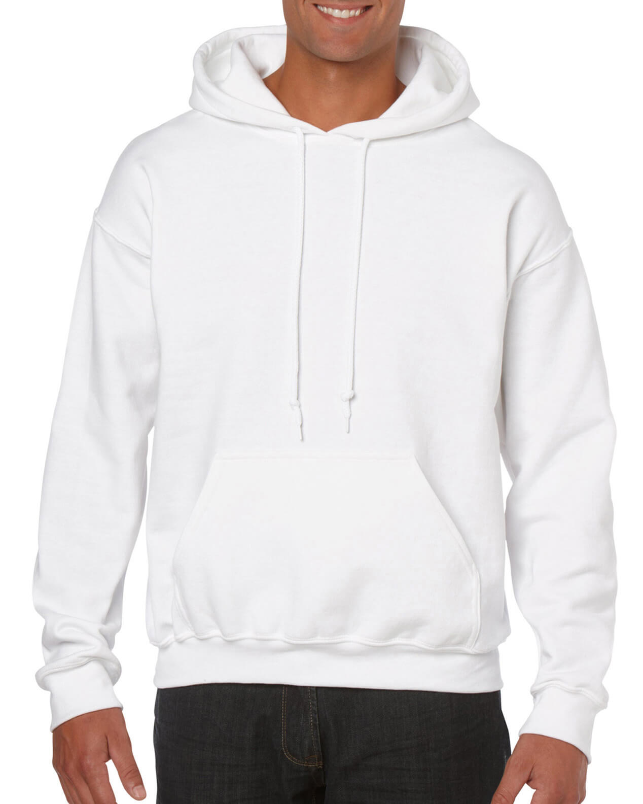 ADULT 50/50 HOODED SWEAT-White