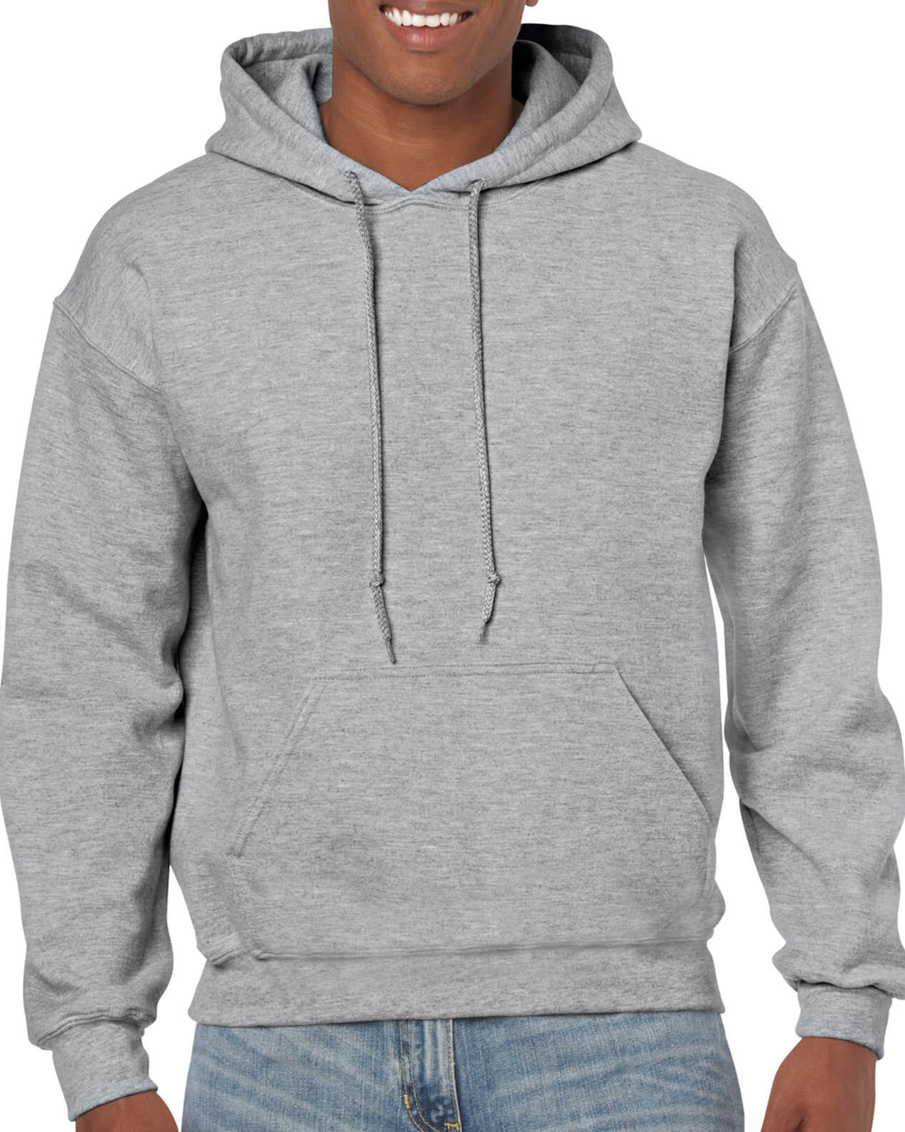 ADULT 50/50 HOODED SWEAT-Sports Grey