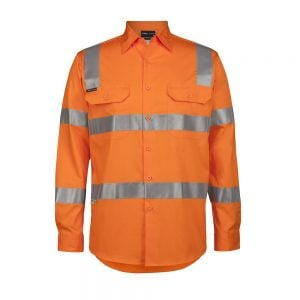 HI VIS (D+N) L/S 150G VIC RAIL WORK SHIRT