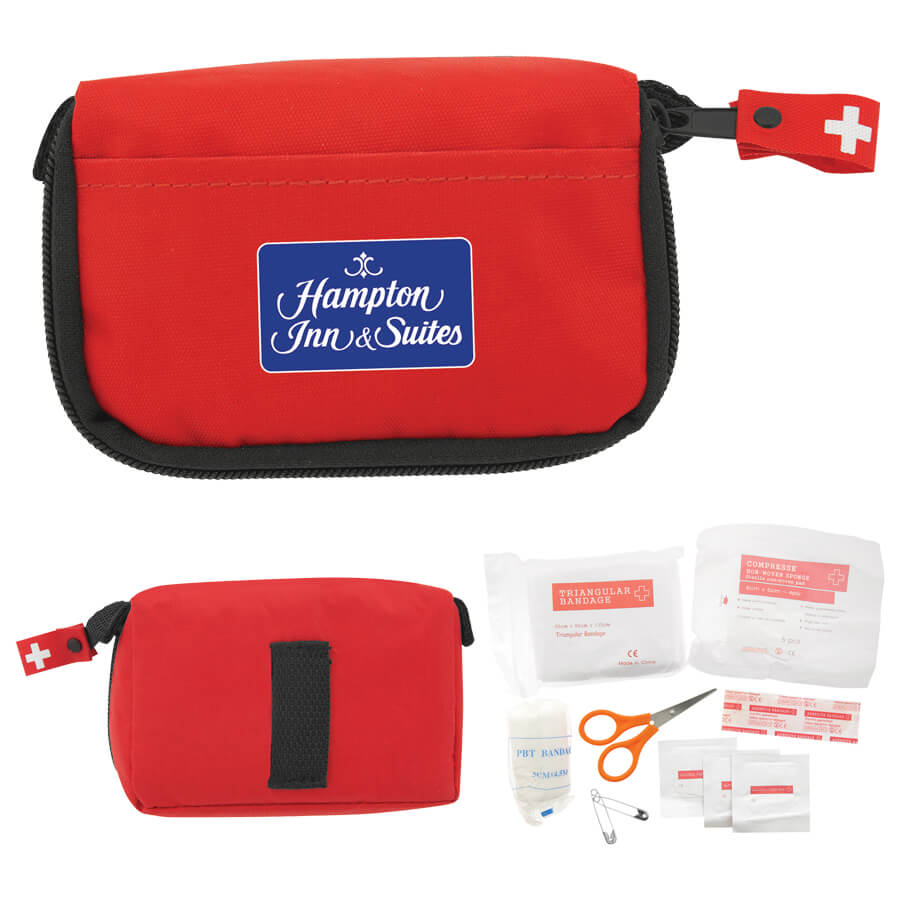 First Aid Travel Kit-Red