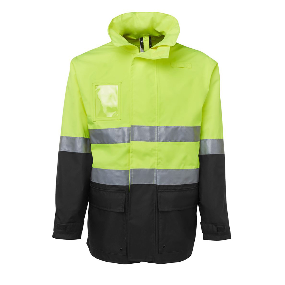 HI VIS (D+N) LONG LINE JACKET-LIME/BLACK