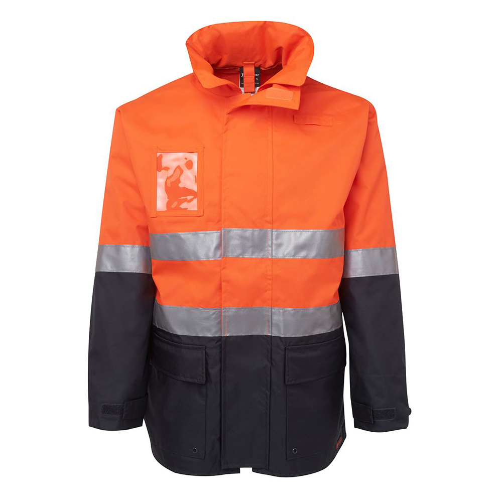 HI VIS (D+N) LONG LINE JACKET-ORANGE/NAVY