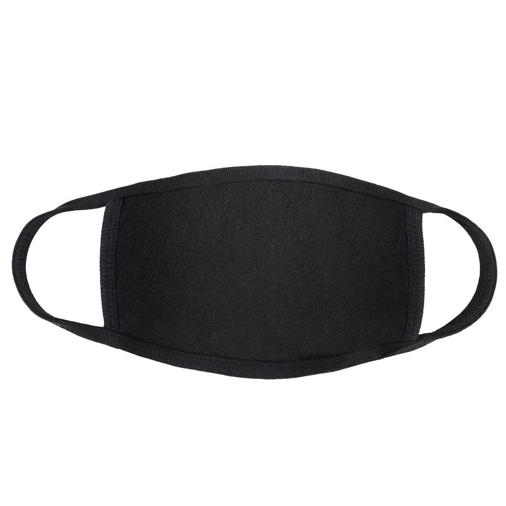 Branded Cotton Face Mask-Black