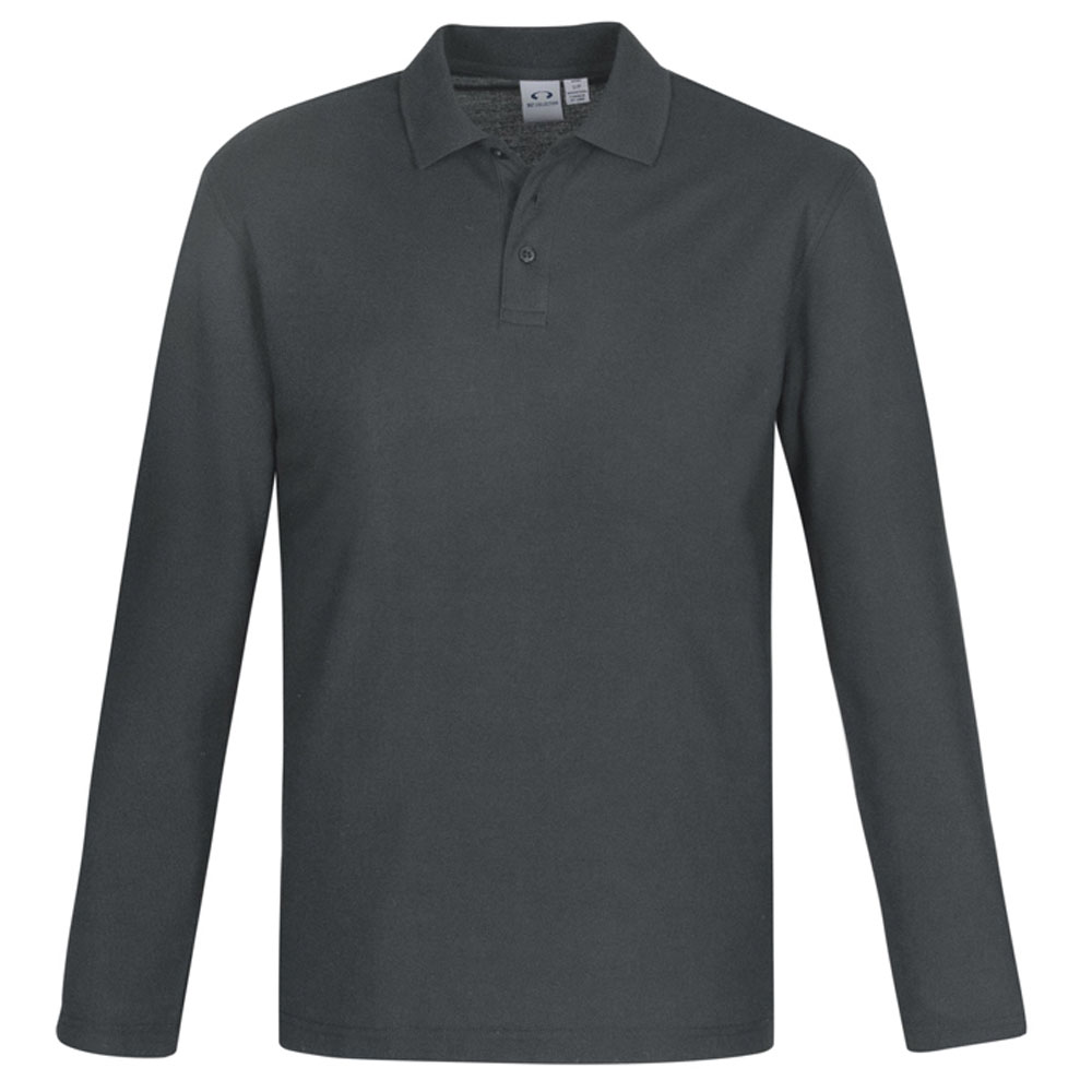 Crew Mens L/S Polo-Charcoal