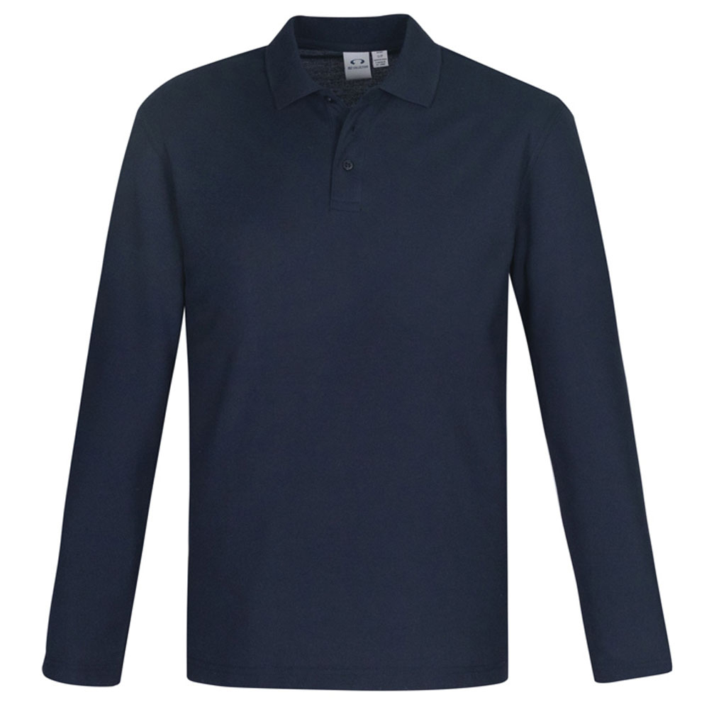 Crew Mens L/S Polo-Navy