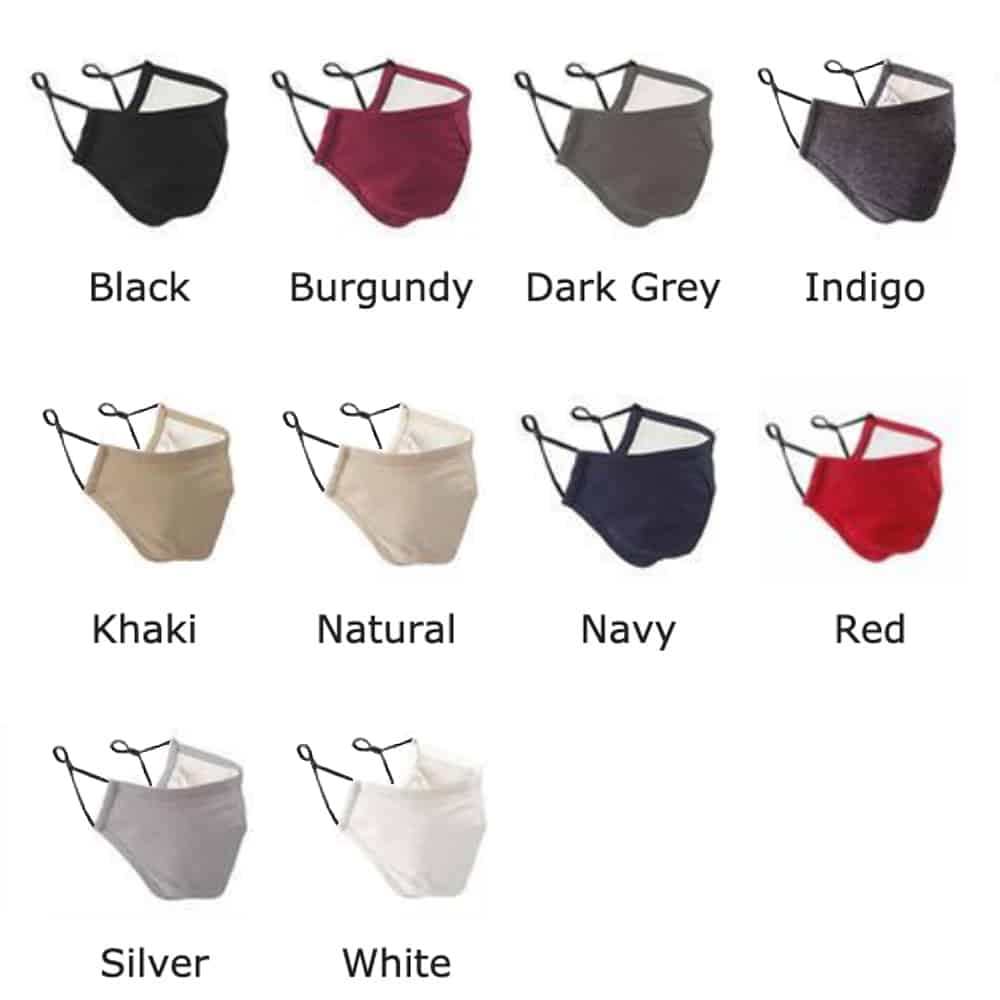 Contoured Branded Face Mask-Colourways